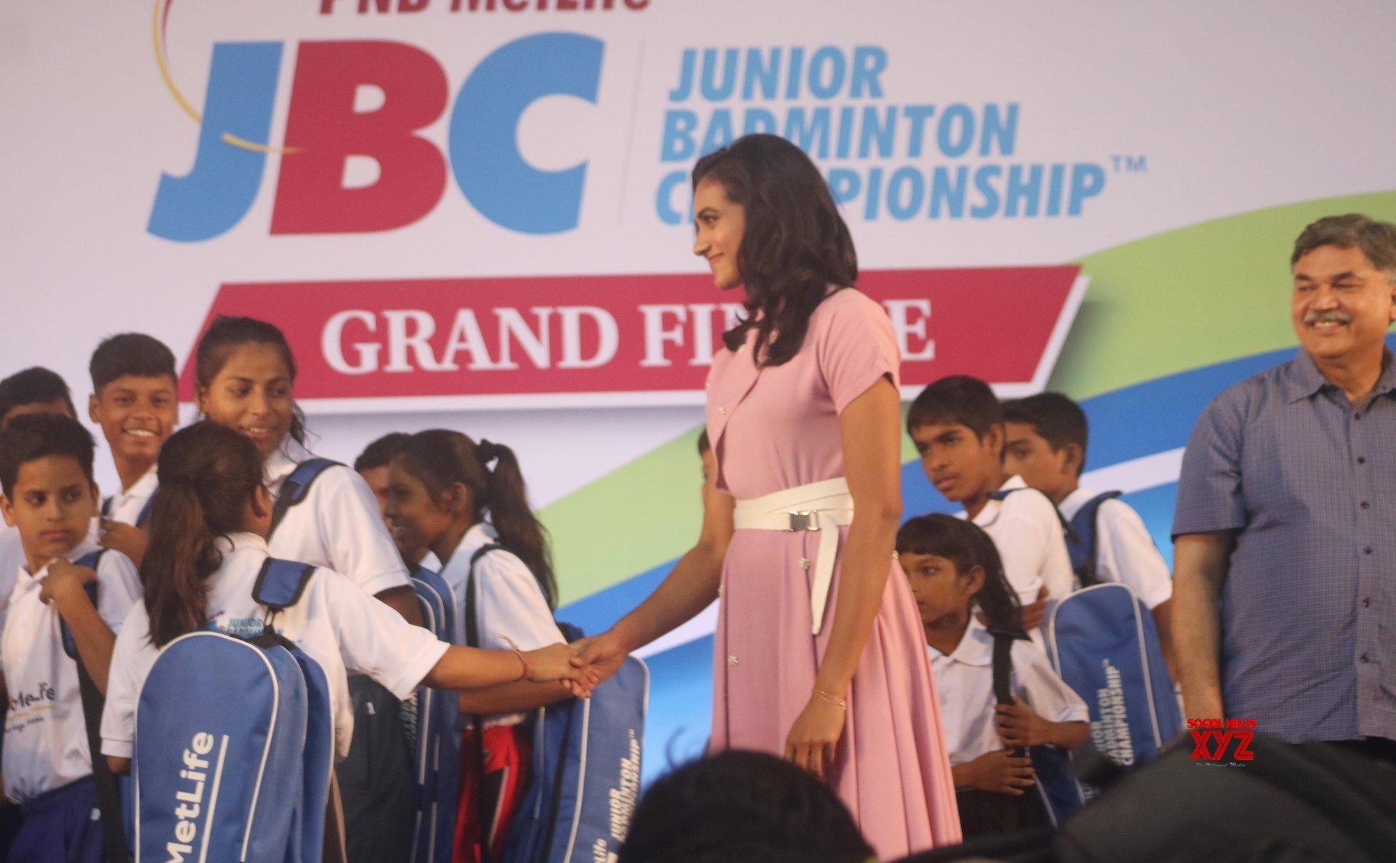 New Delhi: P. V. Sindhu during programme organised to felicitate junior shuttlers #Gallery
