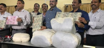 Mumbai: Maharashtra anti-terrorism squad (ATS) display seized 129kgs of the banned narcotic, Mephedrone or MD worth over Rs 51 crore plus cash of more than Rs. One crore and arrested five persons, in Mumbai on Sep 10, 2019. (Photo: IANS)