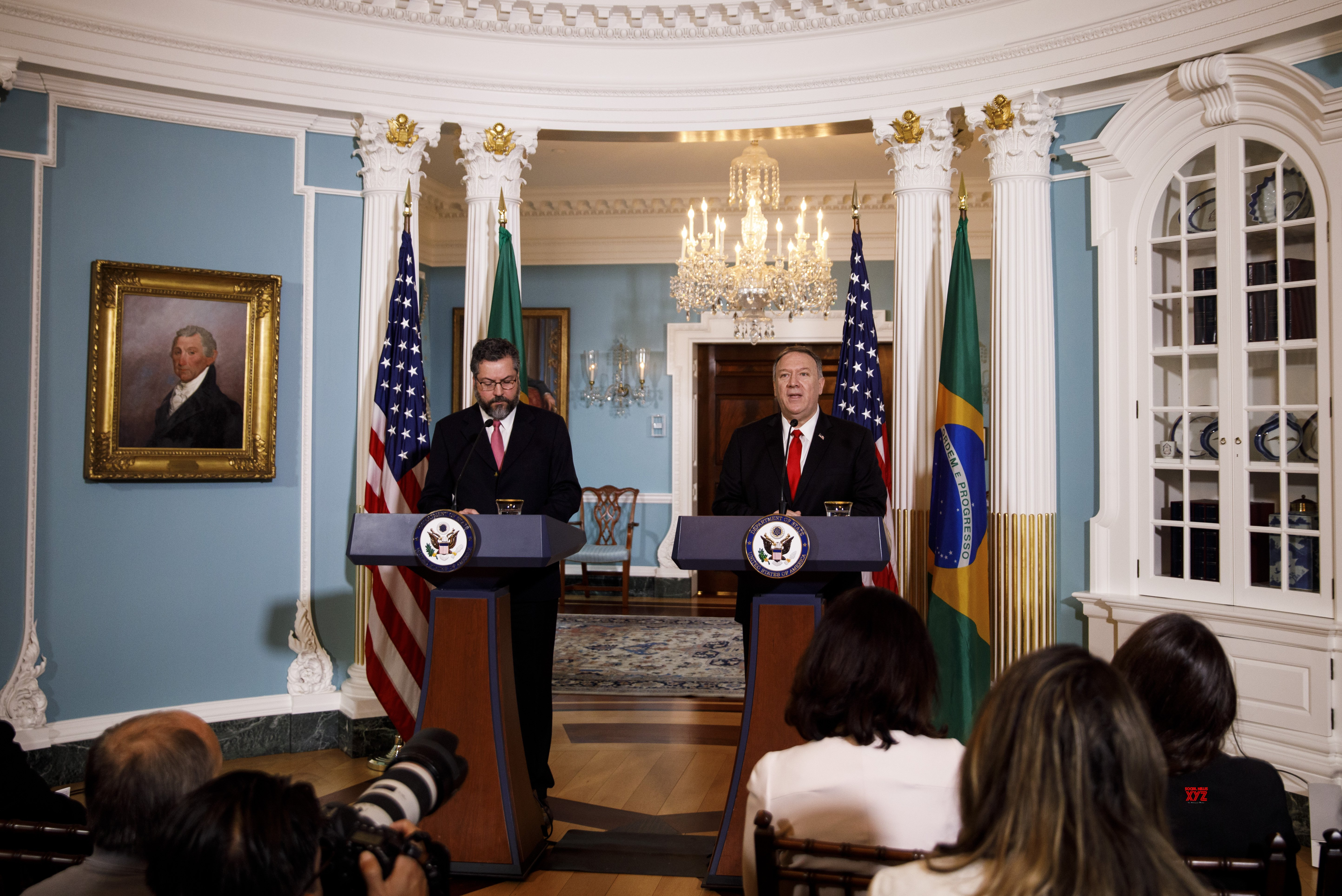 U.S. - WASHINGTON D.C. - POMPEO - BRAZIL - FM - PRESS CONFERENCE #Gallery