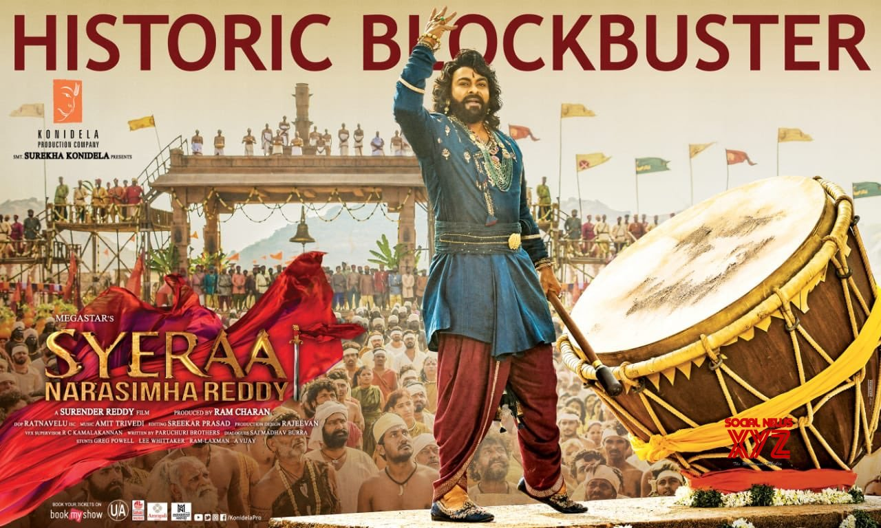 Sye Raa Narasimha Reddy grosses 85.3cr Worldwide with a share of 53.3cr on Day 1