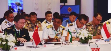 Colombo: Indian Coast Guard Director General Krishnaswamy Natrajan presides over a meeting to review the activities of HACGAM (Heads of Asian Coast Guard Agencies Meeting) Forum on Day 2 of the Maritime Agencies meeting of Asia-Pacific region, in Colombo on Oct 9, 2019. (Photo: IANS/DPRO)