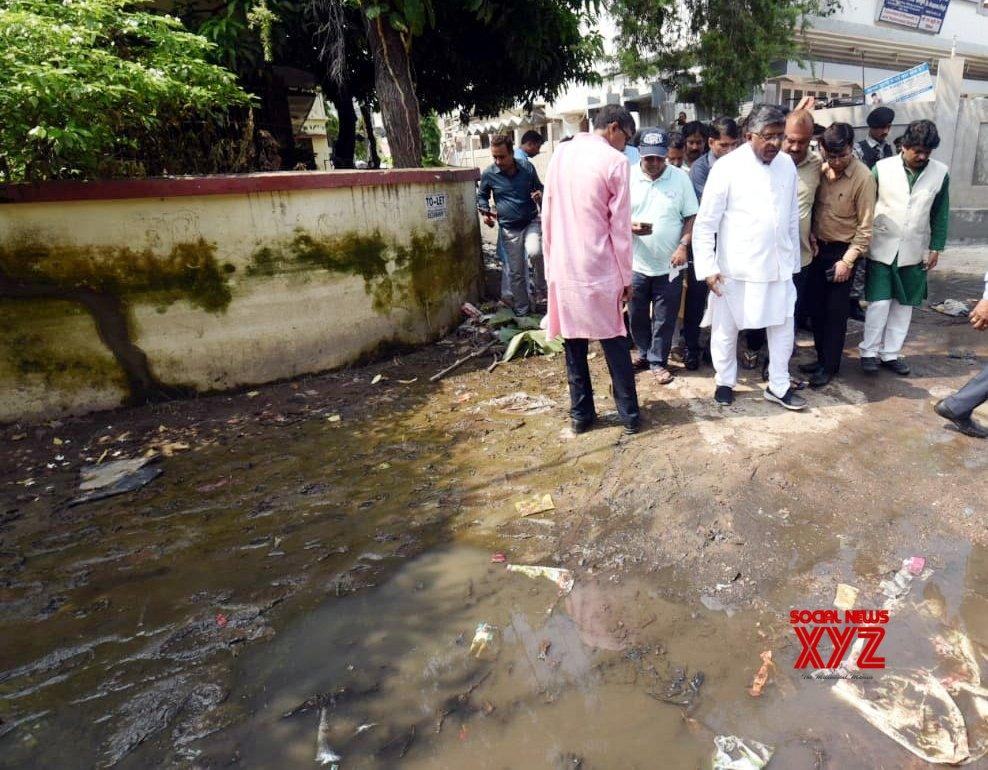 Patna: Ravi Shankar Prasad takes stock of water accumulation amidst fears of Dengue outbreak #Gallery