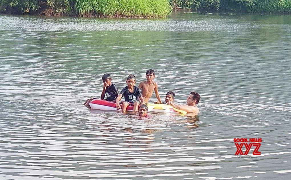 Salman Khan takes a deep dive with cool kids