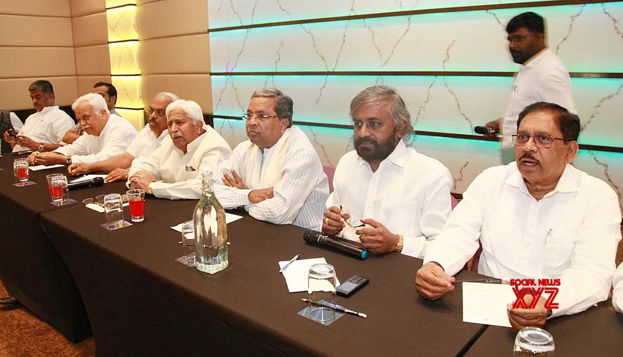 Bengaluru: Congress legislature party meeting #Gallery