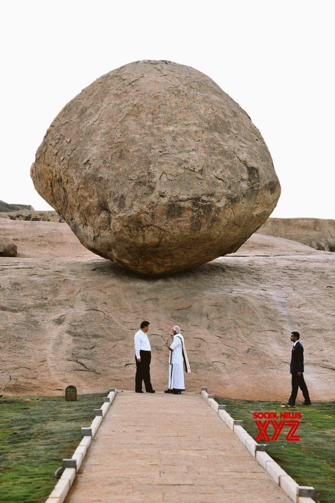 Mahabalipuram: PM Modi, Chinese President visit Krishna's butterball #Gallery