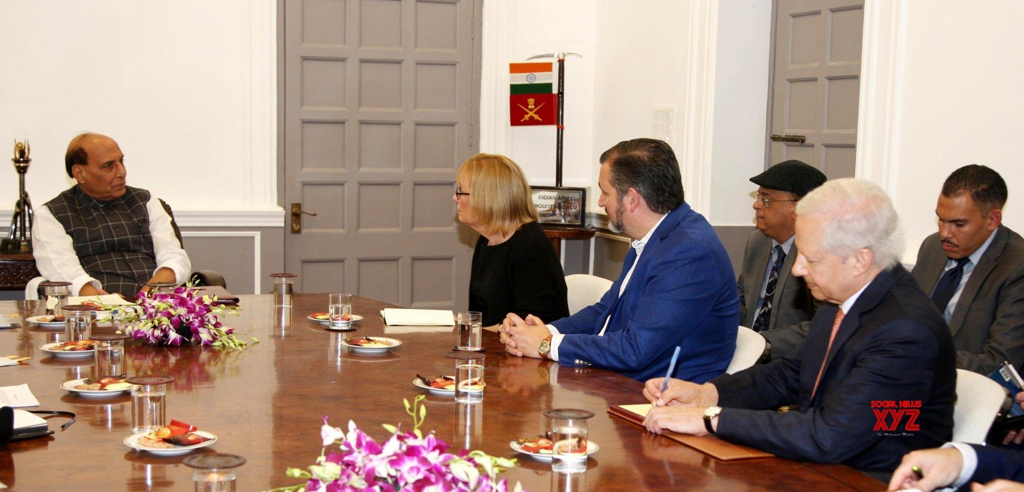 New Delhi: US Senators Maggie Hassan, Ted Cruz meets Defence Minister Rajnath #Gallery