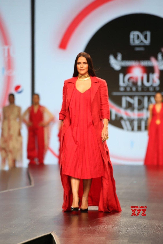 New Delhi: Lotus Make - up India Fashion Week - Nidhika Shekhar's creations showcased on Day 3 (Batch - 2) #Gallery