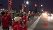 Workers march at GM tech center as strike rolls on [HD] (Video)