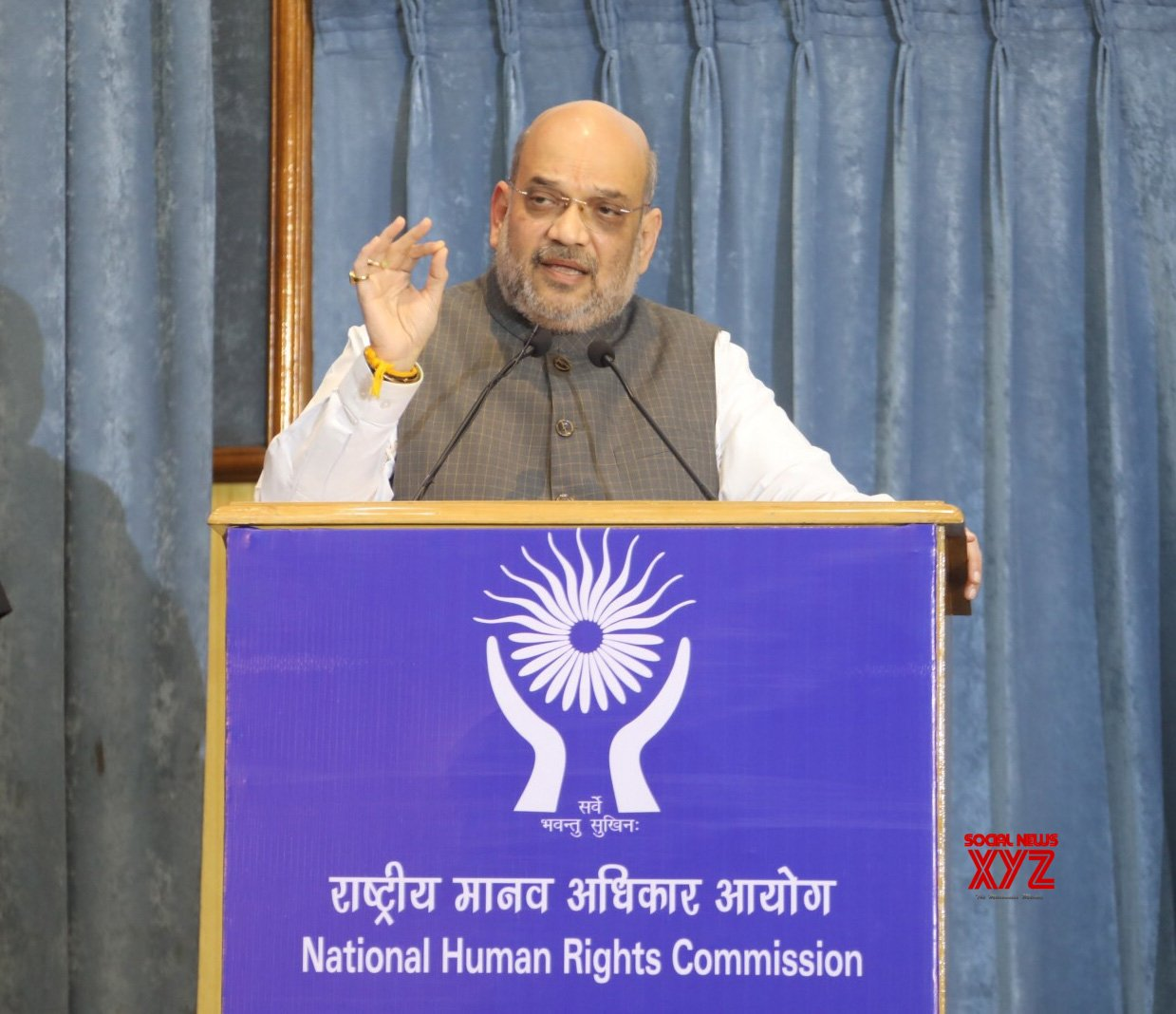 New Delhi: Amit Shah at 26th Foundation Day of NHRC #Gallery