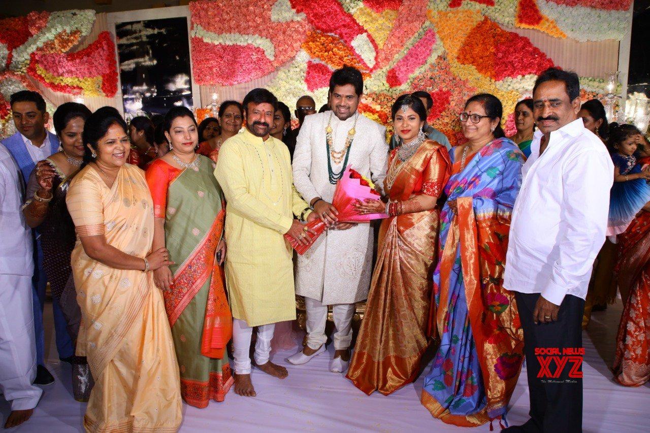 Chiranjeevi, Balakrishna And Venkatesh Stills From Kodi Ramakrishna's Second Daughter Pravallika's Engagement