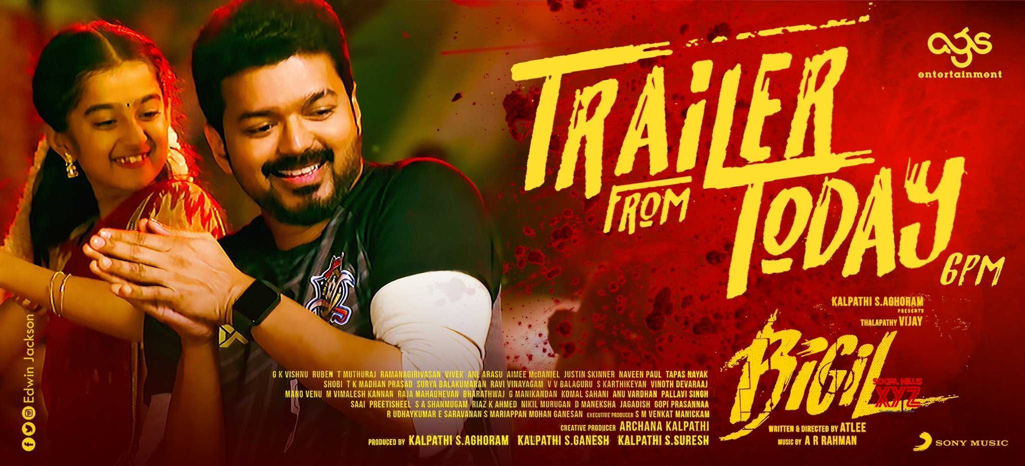 Thalapathy Vijay's Bigil Trailer From Today Poster