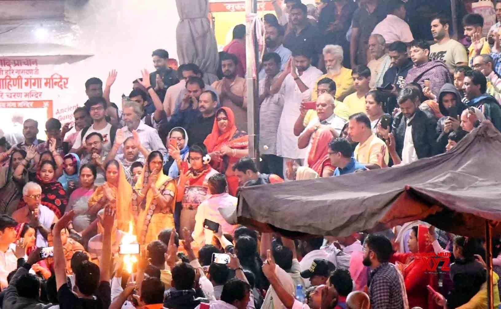 Haridwar (Uttarakhand): Pawan Kalyan at 'Ganga Arti' #Gallery