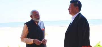 Mahabalipuram: Prime Minister Narendra Modi and Chinese President Xi Jinping continue their discussions on the 2nd day of Informal Summit, in Tamil Nadu's Mahabalipuram on Oct 12, 2019. (Photo: IANS/MEA)
