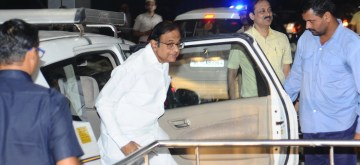 New Delhi: Former Finance Minister P. Chidambaram arrives at Enforcement Directorate (ED) office in connection with the money laundering case relating to INX Media, in New Delhi on Oct 24, 2019. (Photo: IANS)