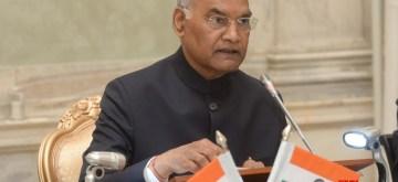 New Delhi: President Ram Nath Kovind addresses during the launch of the Endowment Fund of IIT-Delhi at Rashtrapati Bhavan in New Delhi on Oct 31, 2019. (Photo: IANS/RB)