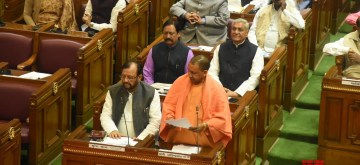 Lucknow: Uttar Pradesh Chief Minister Yogi Adityanath addresses during the winter session of the state assembly in Lucknow, on Dec 18, 2018. (Photo: IANS)