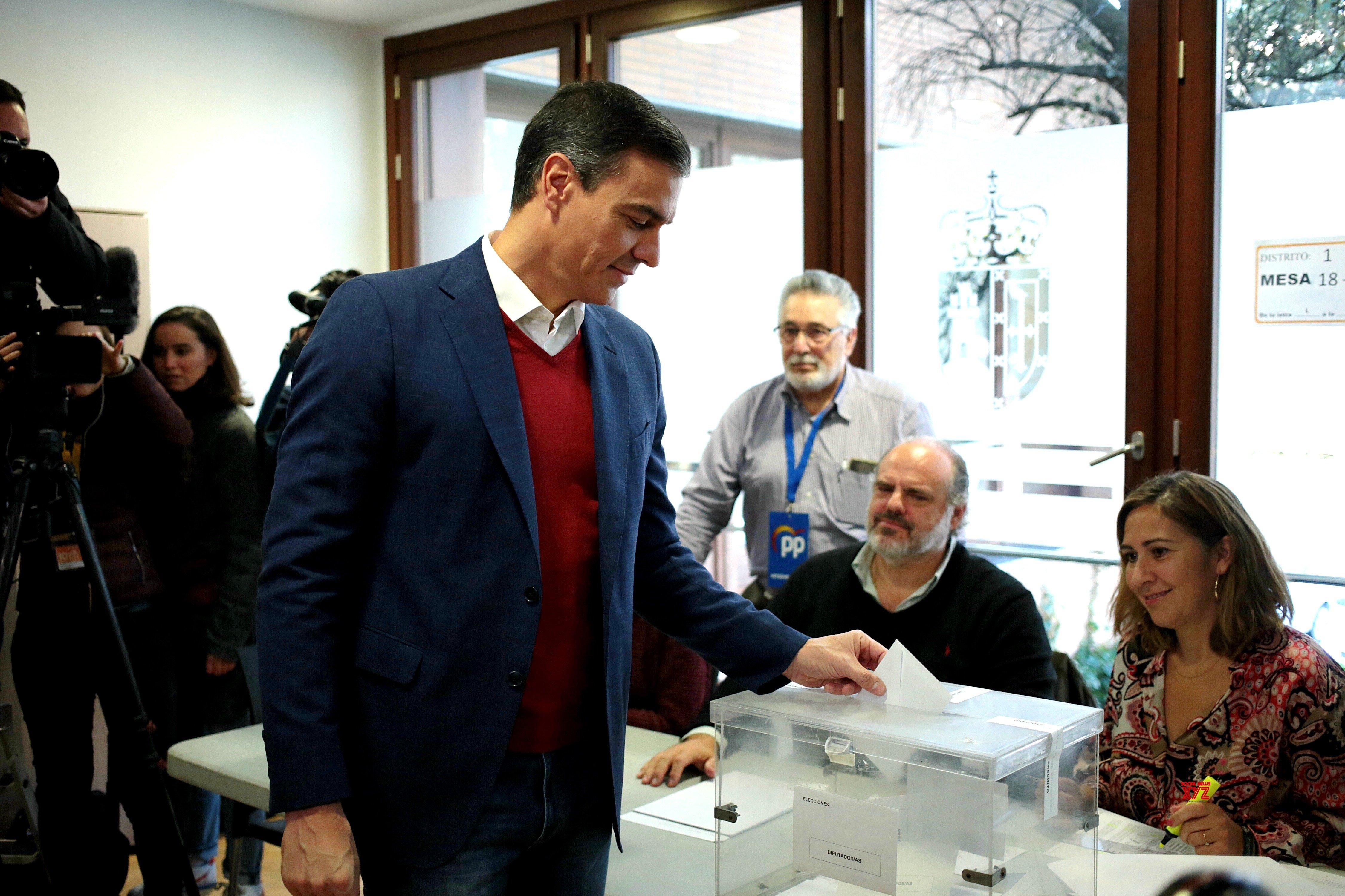 SPAIN - GENERAL ELECTION - PEDRO SANCHEZ - VOTE #Gallery