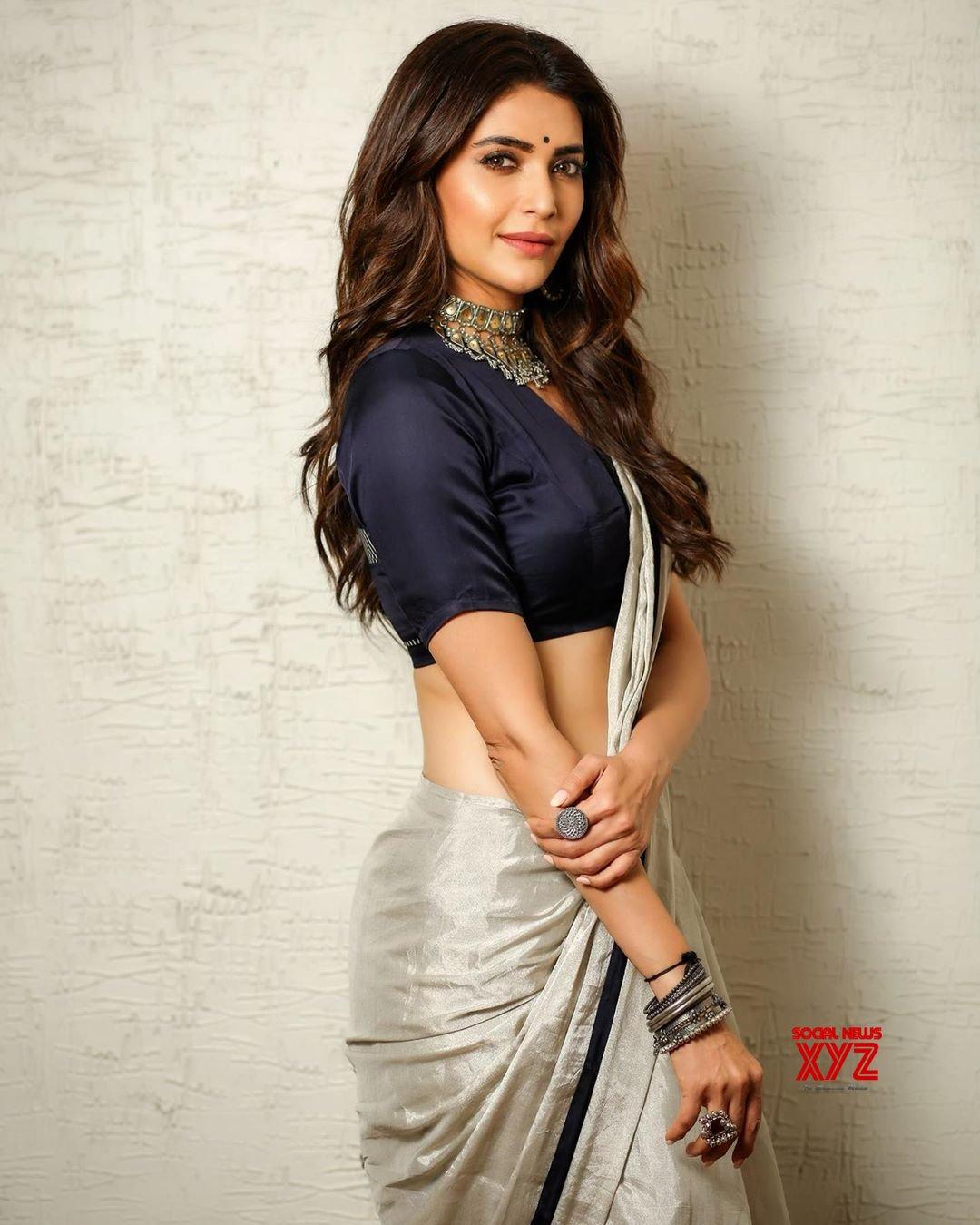 Actress Karishma Tanna Sexy Saree Stills