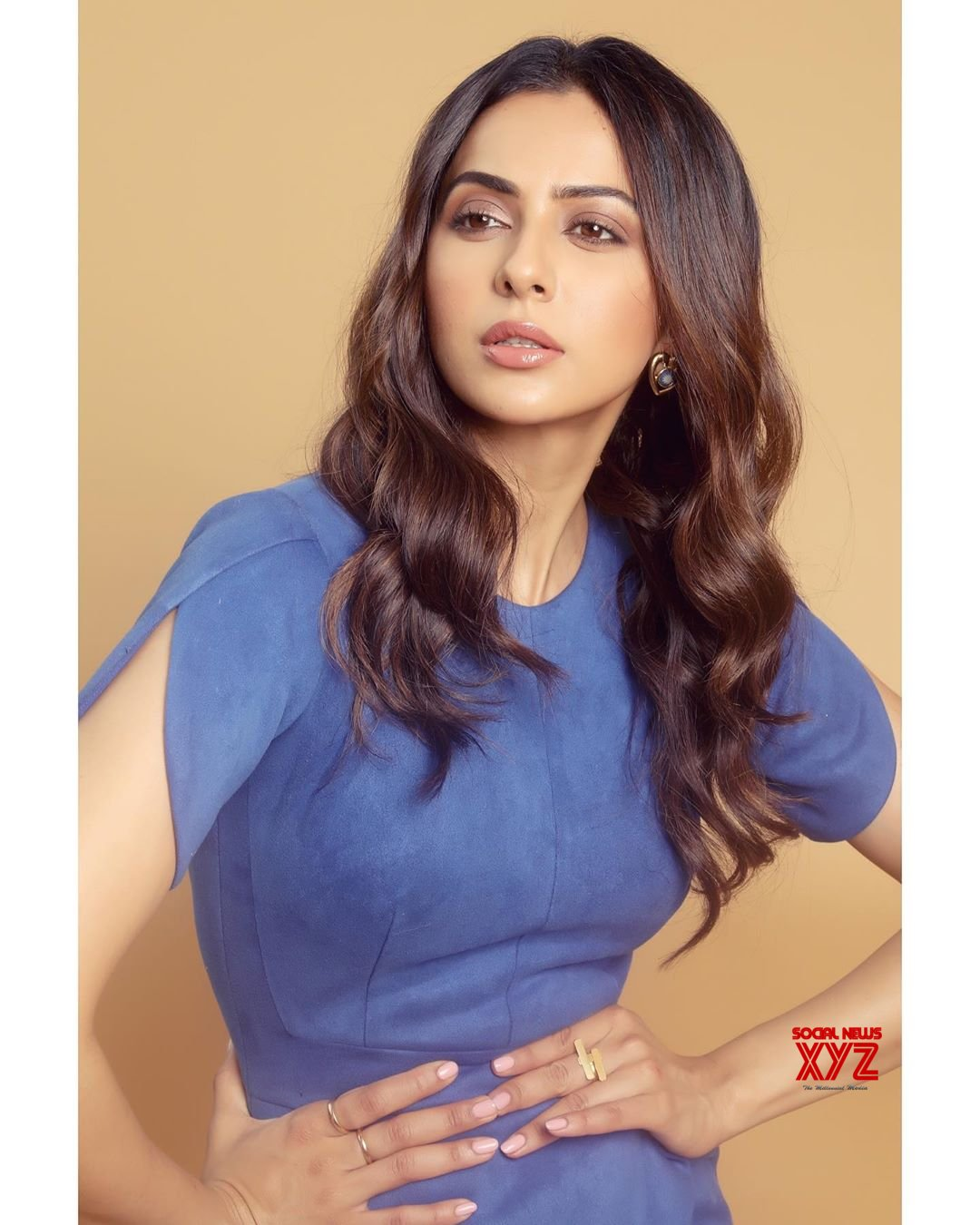Actress Rakul Preet Singh Hot Stills In All Blue