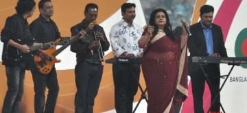 Kolkata: Artistes perform on Day 1 of the second Test match between India and Bangladesh at the Eden Gardens in Kolkata on Nov 22, 2019. (Photo: Kuntal Chakrabarty/IANS)