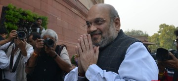 New Delhi: Union Home Minister Amit Shah at Parliament in New Delhi on Nov 27, 2019. (Photo: IANS)