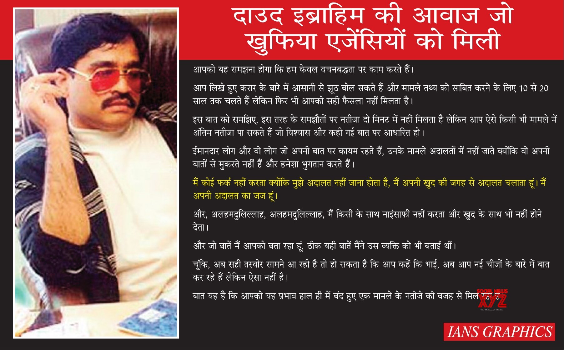 Infographics: The Last Recorded Voice Sample of Dawood Ibrahim By Indian Agencies #Gallery