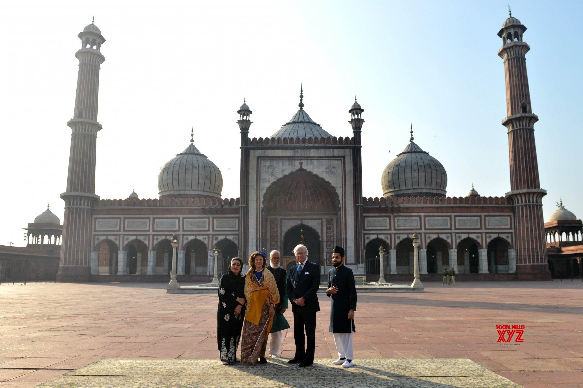 New Delhi Swedish King Queen Visit Jama Masjid Batch 3