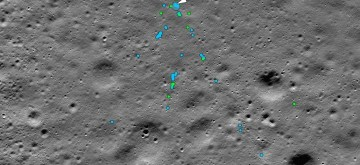 NASA released a picture taken before Vikram moonlander crashed on the moon shows the area with the soil undisturbed. The picture was used for comparison with pictures taken after the crash to determine the crash site. (Photo: NASA Goddard/Arizona State Univ.)