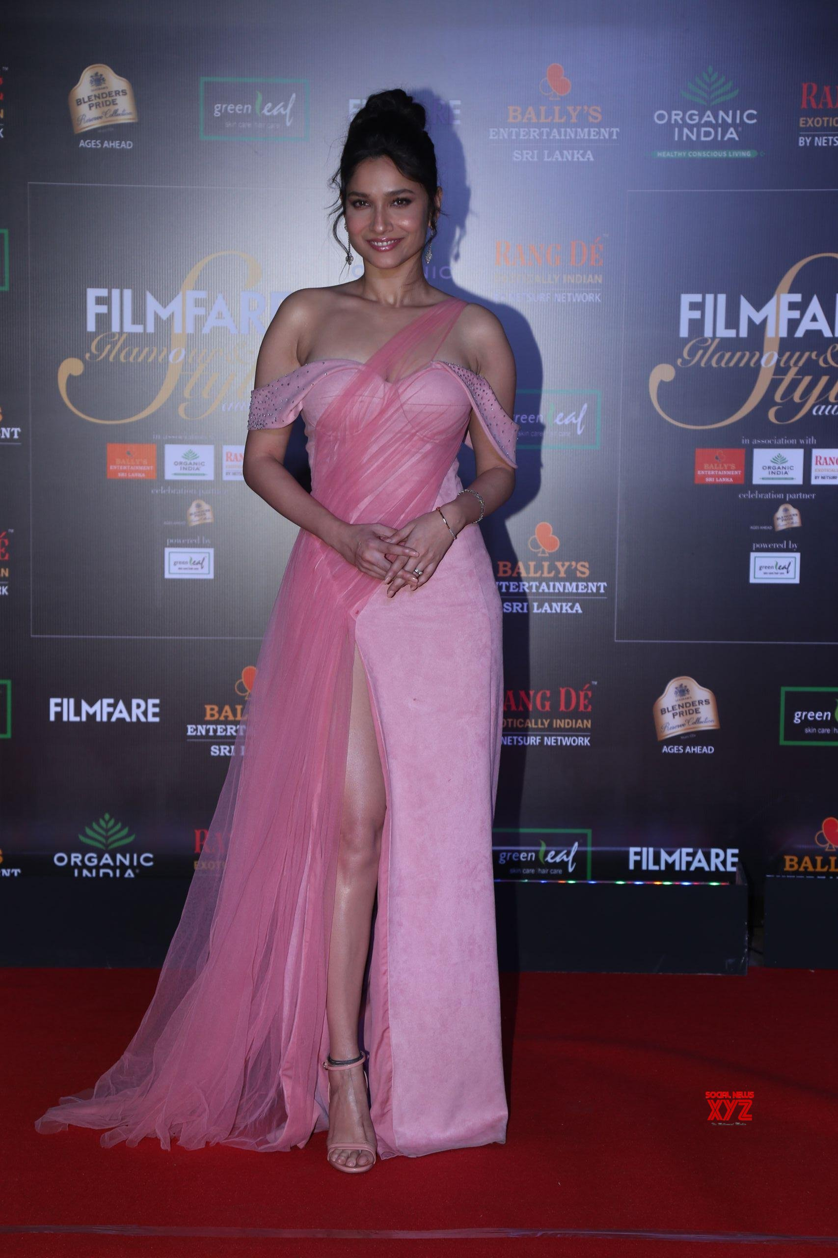 Actress Ankita Lokhande Hot HD Stills From Filmfare Glamour And Style Awards 2019 Red Carpet