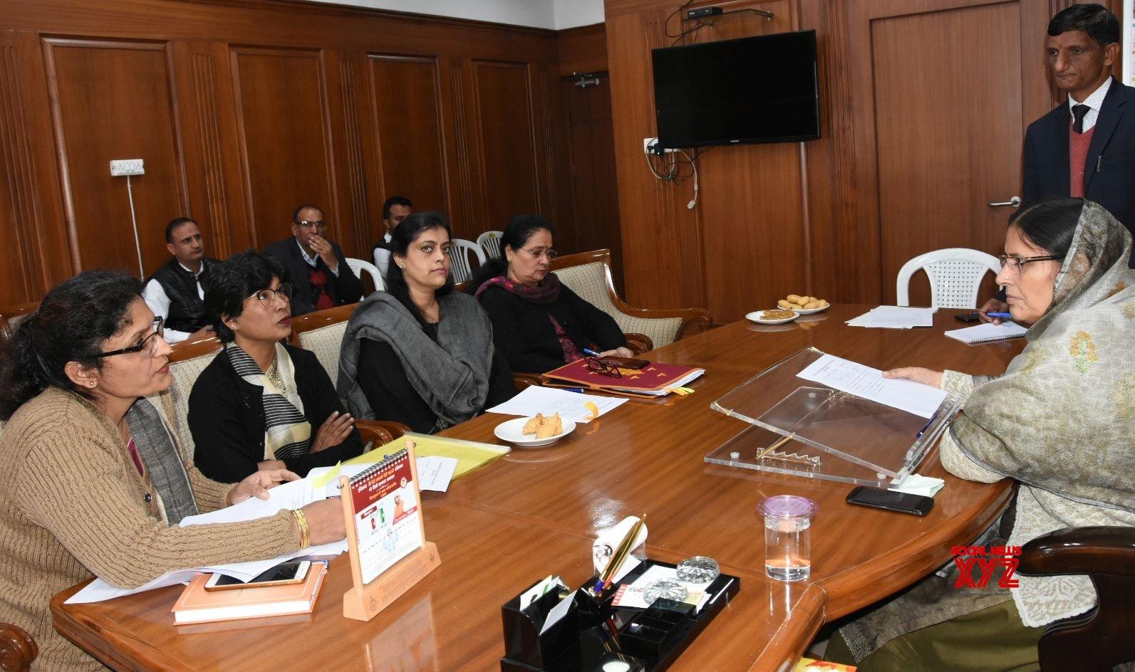 Chandigarh: Haryana Minister chairs meeting of Women and Child Development #Gallery