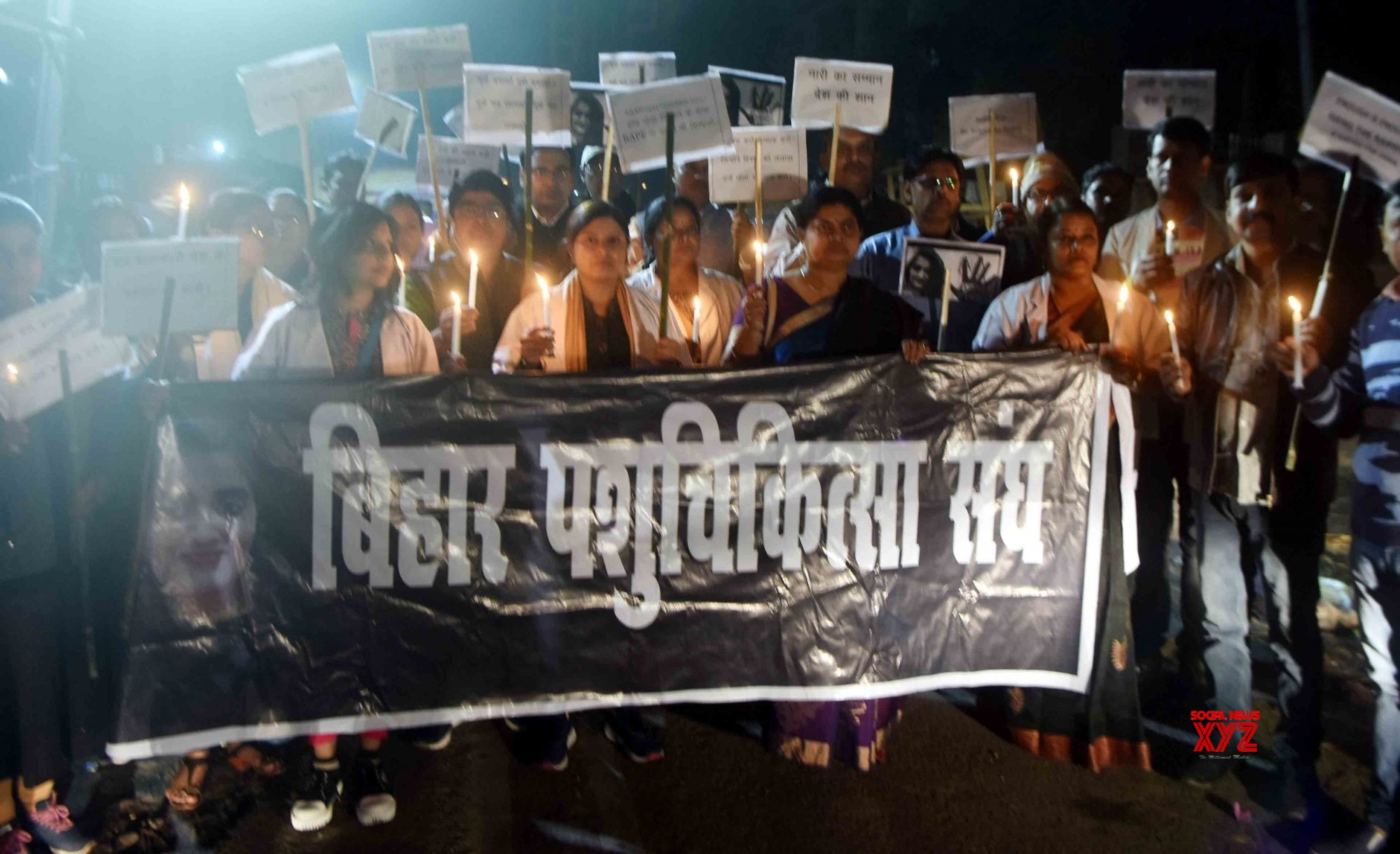 Patna: Candlelight vigil to protest against Hyderabad gang rape - murder #Gallery