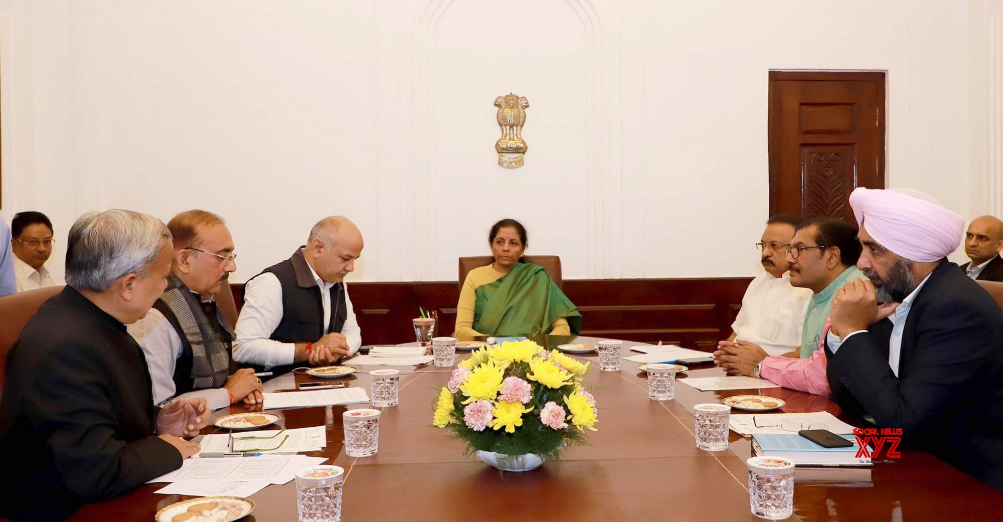 New Delhi: Sitharaman in a meeting with the State Finance Ministers #Gallery