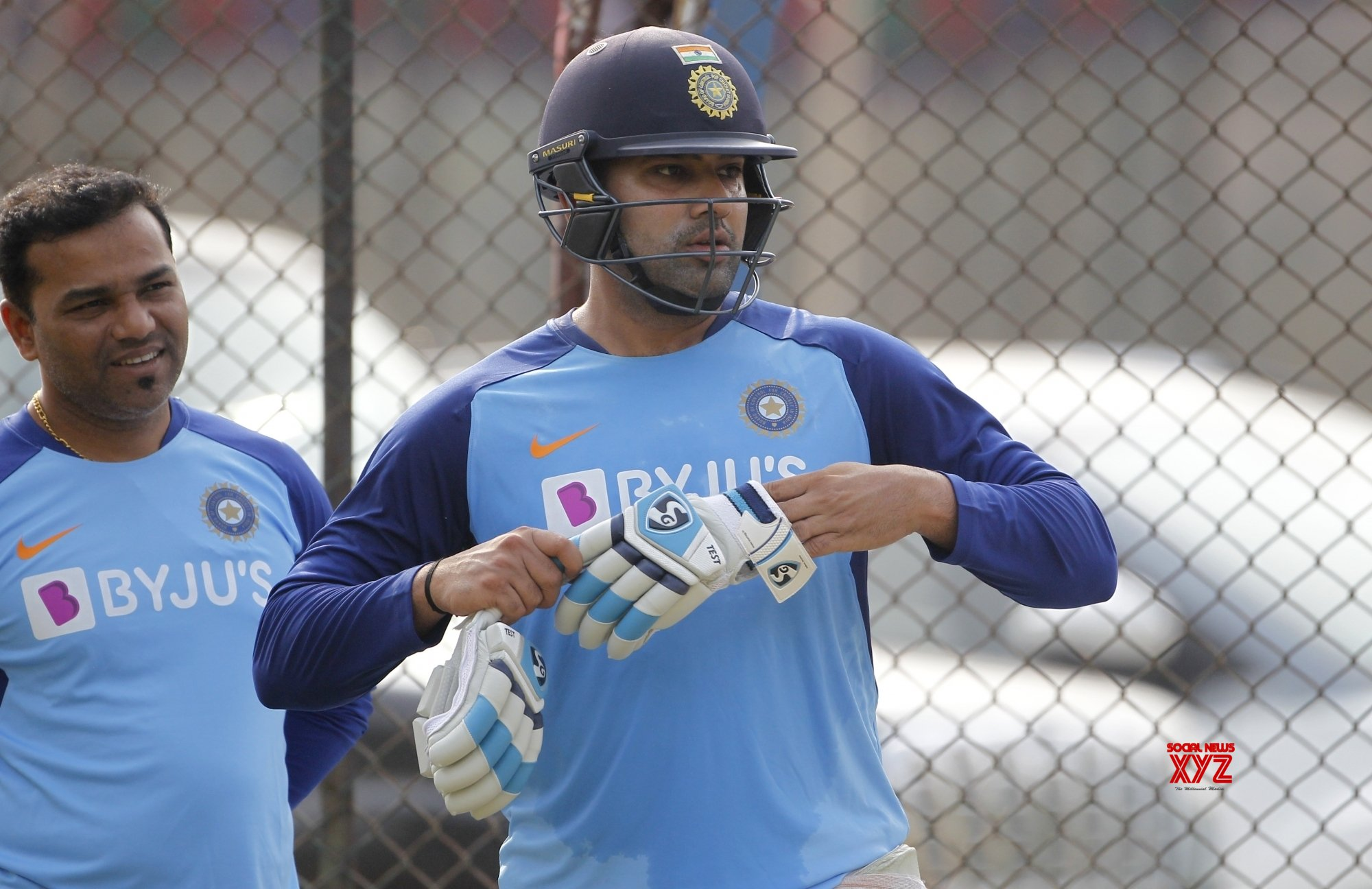 Hyderabad: India practice session - Rohit Sharma #Gallery