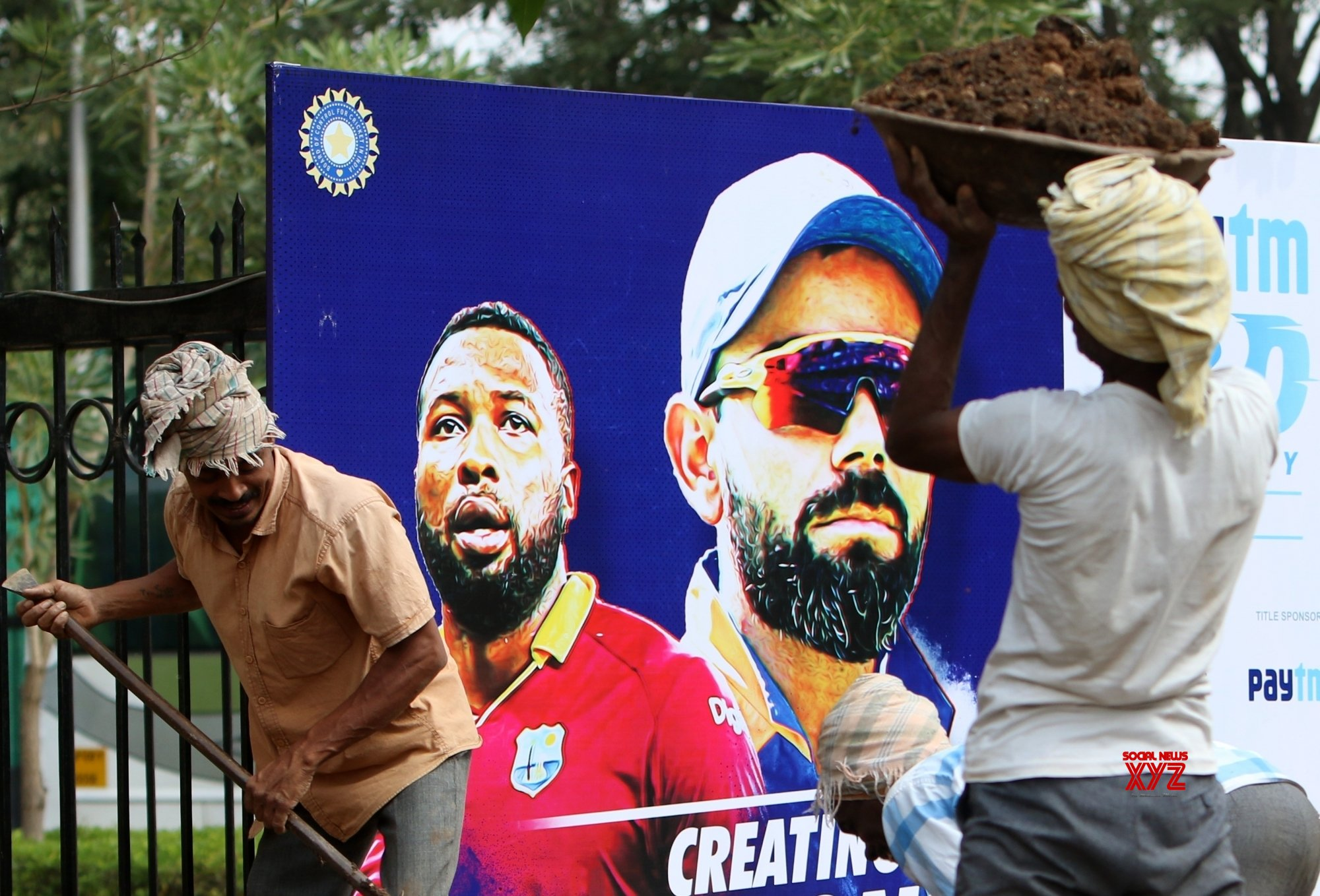 Hyderabad: India Vs West Indies - Labours #Gallery