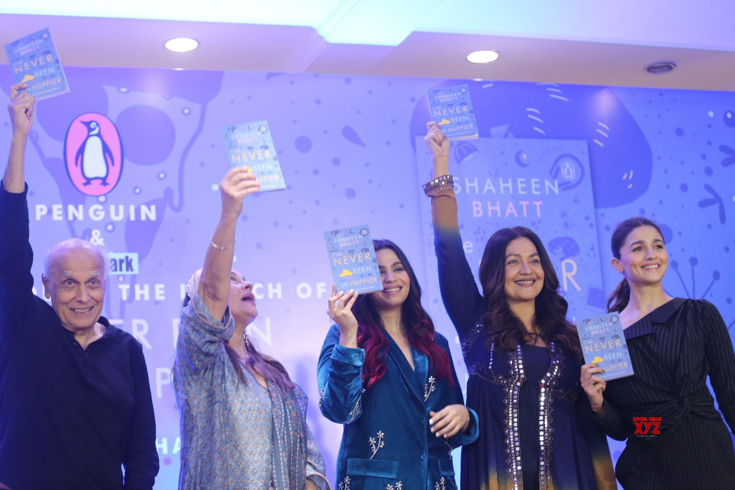 Alia Bhatt And Family At Shaheen Bhatt's Book Launch At Taj Lands End Bandra Gallery