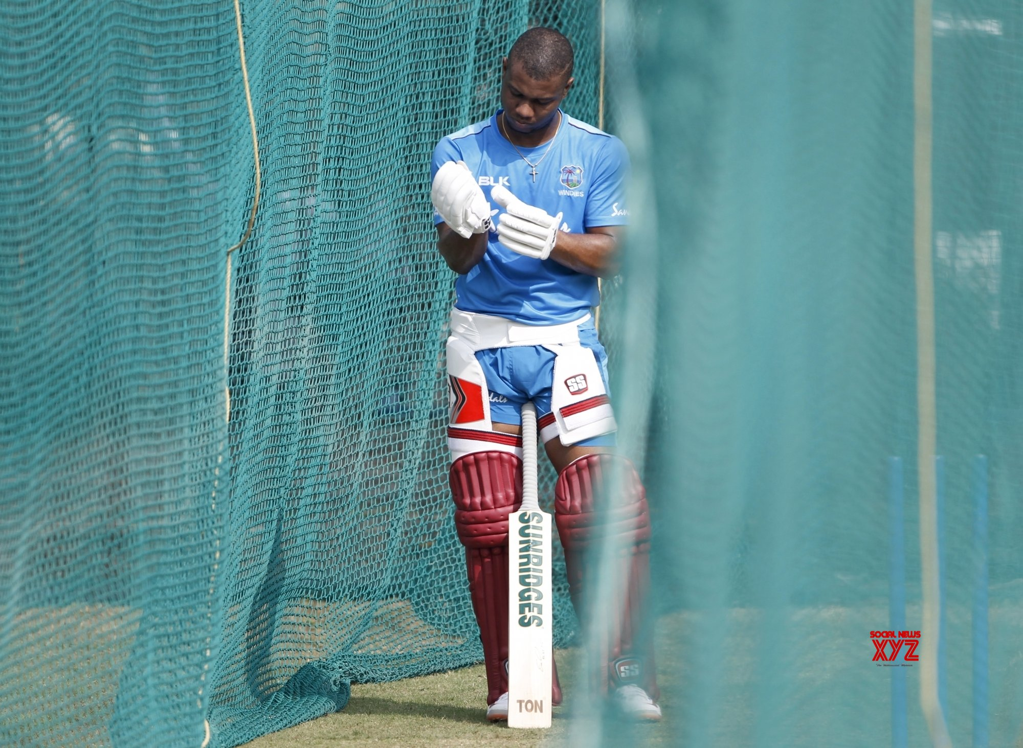 Hyderabad: West Indies - practice session - Evin Lewis #Gallery