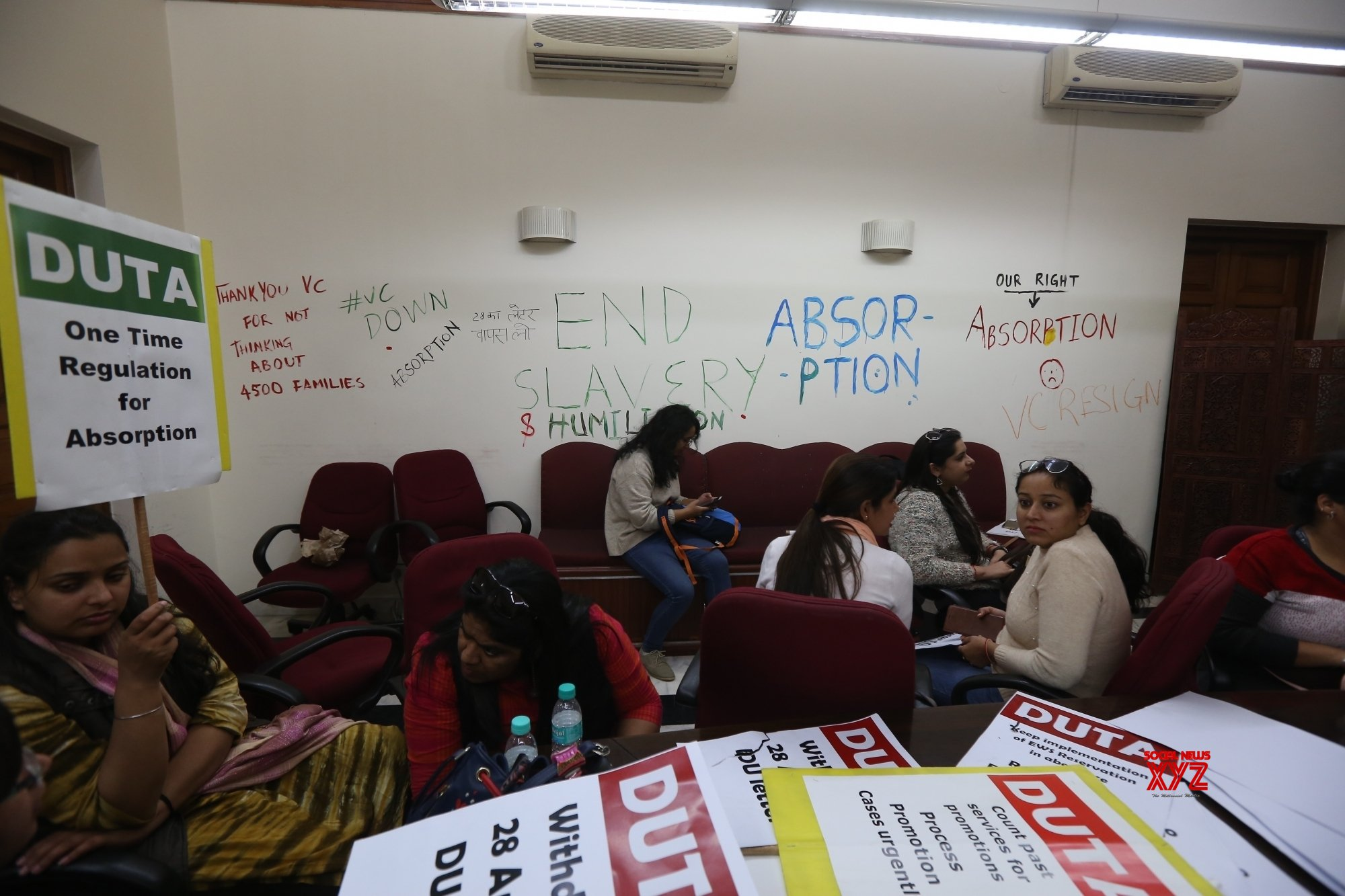 New Delhi: DU teachers protest demanding absorption of ad - hoc teachers #Gallery