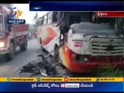 Two Died, Four Injured | After Two RTC Buses Collision | in Srisailam  (Video)