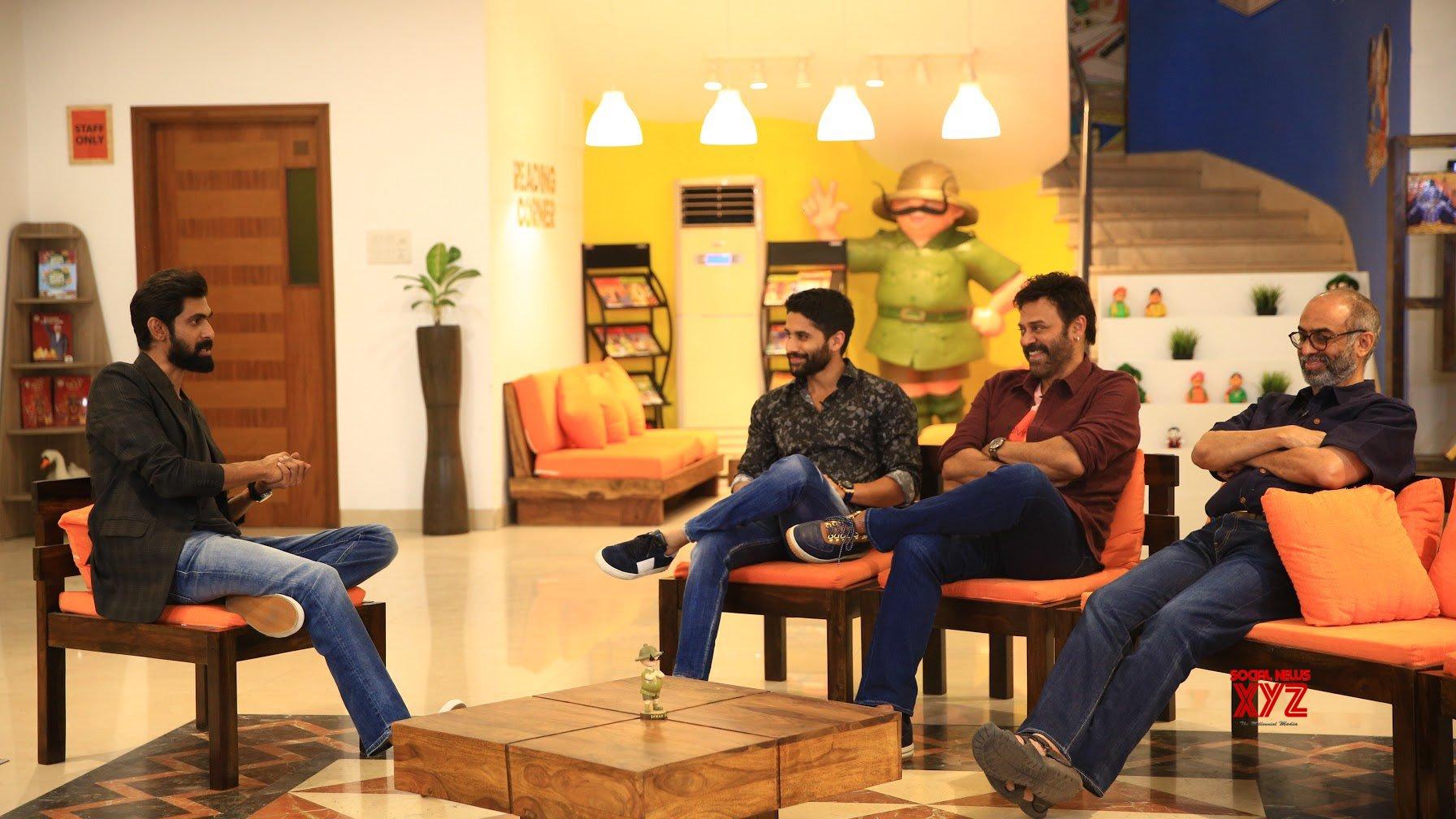 Newz-Rana interviews Venkatesh, Suresh Babu and Naga Chaitanya - Venky Mama