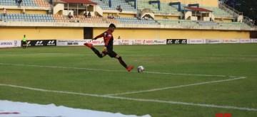Vasco da Gama: Players in action during a I-League match between Indian Arrows and Gokulam Kerala FC at the Tilak Maidan Stadium in Vasco da Gama, Goa on Dec 6, 2019. (Photo: IANS)