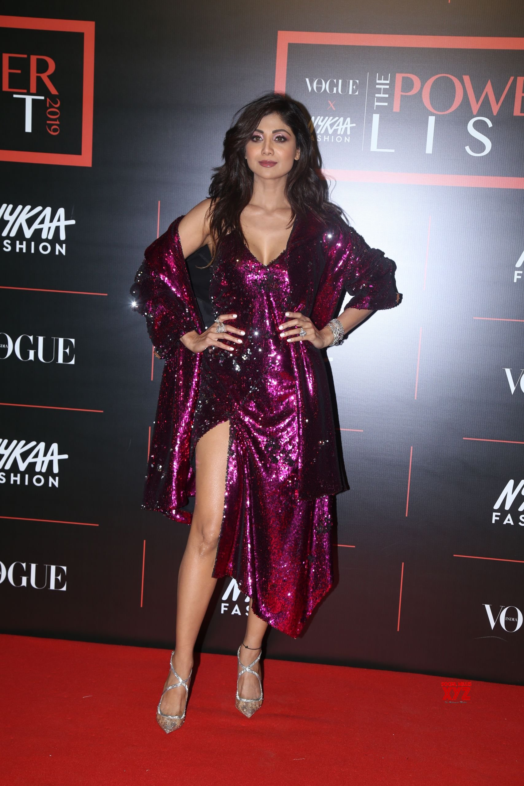 Actress Shilpa Shetty Hot Hd Stills From Vogue X Nykaa Fashion The Power List 2019 -2199