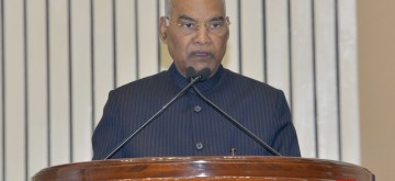 New Delhi: President Ram Nath Kovind addresses at the Human Rights Day function, organised by the National Human Rights Commission, in New Delhi on Dec 10, 2019. (Photo: IANS/RB)