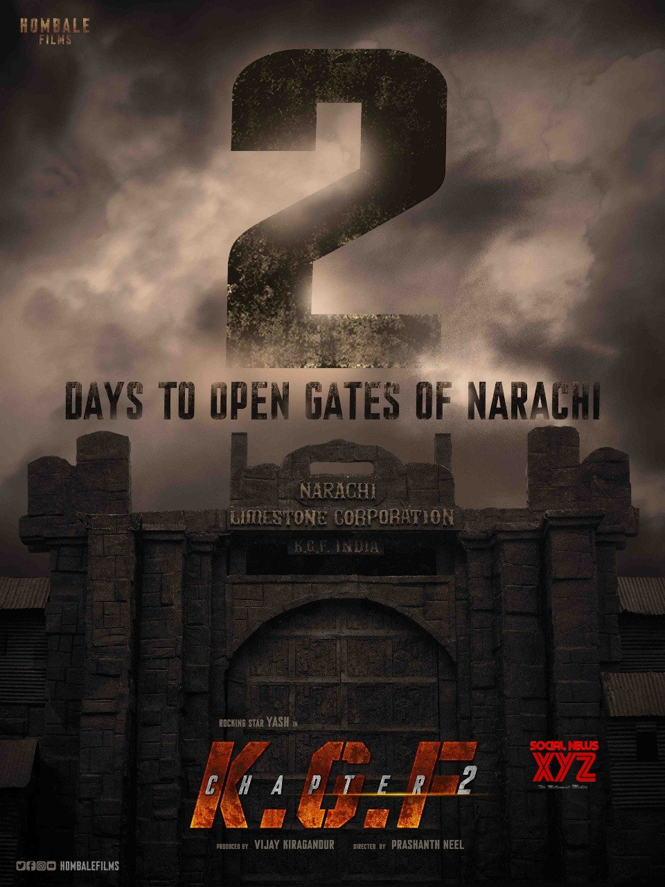 yash s kgf chapter 2 first look 2 days to go poster social news xyz yash s kgf chapter 2 first look 2 days