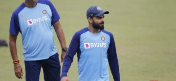 Cuttack: Indian skipper Virat Kohli and Head Coach Ravi Shastri during a practice session on the eve of the 3rd one-day international (ODI) match against West Indies, at Barabati Stadium in Cuttack, Odisha on Dec 21, 2019. (Photo: Surjeet Yadav/IANS)