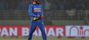 Visakhapatnam: Indian skipper Virat Kohli celebrates fall of Shimron Hetmyer's wicket during the 2nd ODI match between India and West Indies at Dr. Y.S. Rajasekhara Reddy ACA-VDCA Cricket Stadium in Visakhapatnam on Dec 18, 2019. (Photo: Surjeet Yadav/IANS)