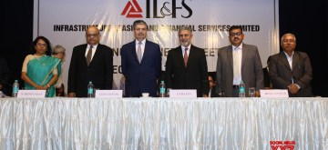 New Delhi: Kotak Mahindar Bank Managing Director Uday Kotak, IL&FS Managing Director C.S. Rajan, Deputy Managing Director Bijay Kumar and other dignitaries.