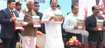 Bengaluru: Vice President M Venkaiah Naidu releases Compendium of NAAC organised byorganised by National Assessment and Accreditation Council at Raj Bhavan, in Bengaluru on Jan 7, 2020. Also seen Karnataka Governor Vajubhai Rudabhai Vala. (Photo: IANS)