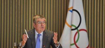 LAUSANNE, Jan. 8, 2020 (Xinhua) -- International Olympic Committee (IOC) President Thomas Bach attends an IOC Executive Board Meeting in Lausanne, Switzerland, Jan. 8, 2020. (Xinhua/Wang Qingqin/IANS)