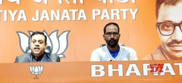 New Delhi: BJP National Spokesperson Sambit Patra addresses a press conference at the party's headquarters in New Delhi on Jan 10, 2020. (Photo: IANS)