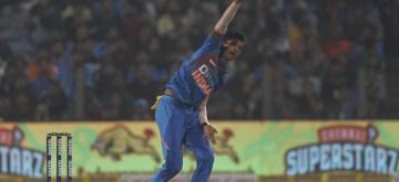 Pune: India's Navdeep Saini in action during the 3rd T20I match between India and Sri Lanka at the Maharashtra Cricket Association Stadium in Pune on Jan 10, 2020. (Photo: Surjeet Yadav/IANS)